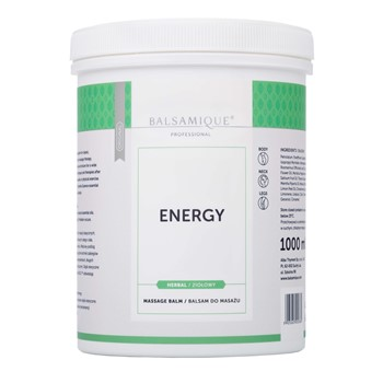 Balsam do masażu ziołowy BALSAMIQUE ENERGY 1000ml